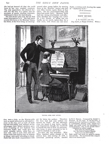 Figure 4'Trying over New Music', in 'New Music', The Girl's Own Paper 3 (8 July 1882): 652 (Lutterworth Press)